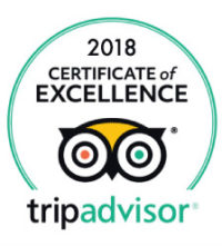 2018 Tripadvisor certificate of excellence 200x221